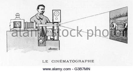 lumiere cinematograph stock photo, royalty free image