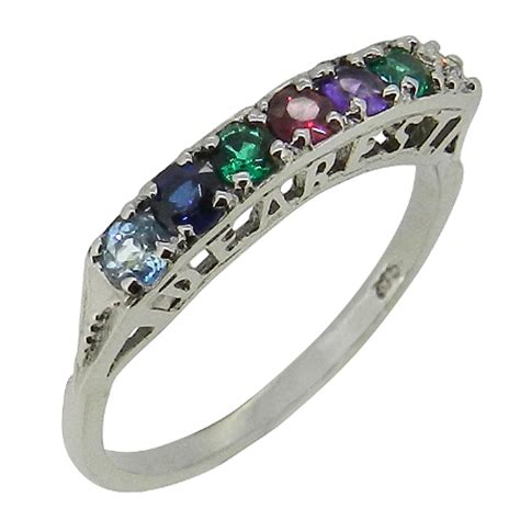 9ct white gold 'dearest' ring flair jewellery