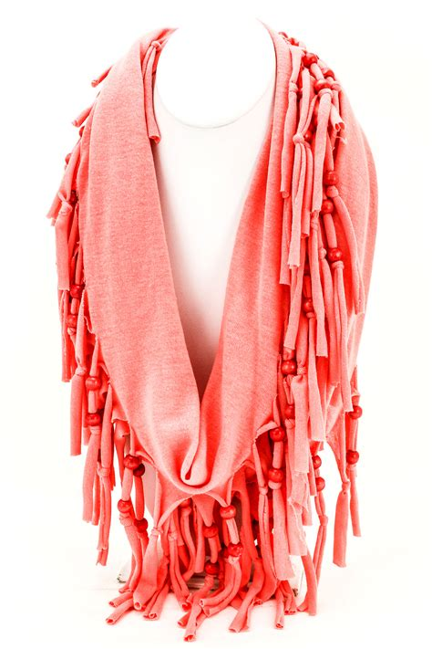 beaded scarf woven beaded knotted fringe scarf scarves