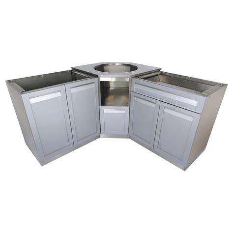 outdoor kitchen corner cabinet 4 outdoor 3 101x36x37 in stainless steel