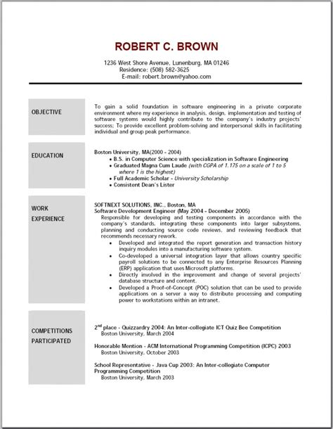 proper resume format 2016 exles of resumes proper resume format 2018 for 93