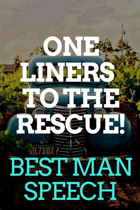 BEST MAN SPEECH ONE LINERS ARE HERE TO THE RESCUE
