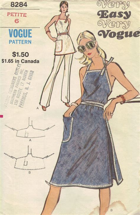 Vogue Pattern Apron | vogue apron dress pattern my mom had this pattern and she