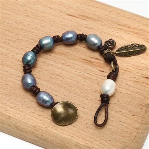 Handmade Pearl Bracelet - aobei pearl ets b475 handmade freshwater pearl beaded