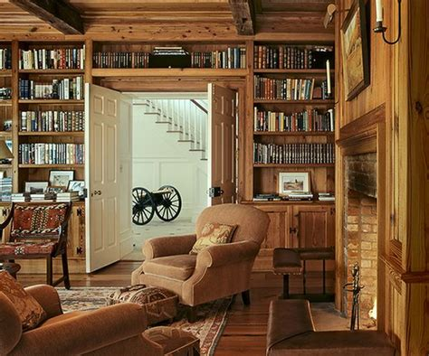 Bookcase Around Window 62 Home Library Design Ideas With Stunning Visual Effect