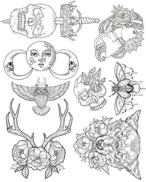 tattoo flash art sheets wendy ortiz tattoo flash first edition wish list