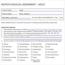 social work biopsychosocial assessment template sle biopsychosocial assessment 8 documents in pdf