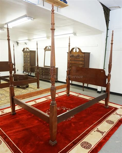 High Poster Beds Size Cherry High Poster Bed With Carved Posts