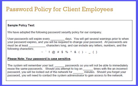Password Policy Template sop friday prudent password policies the channelpro network