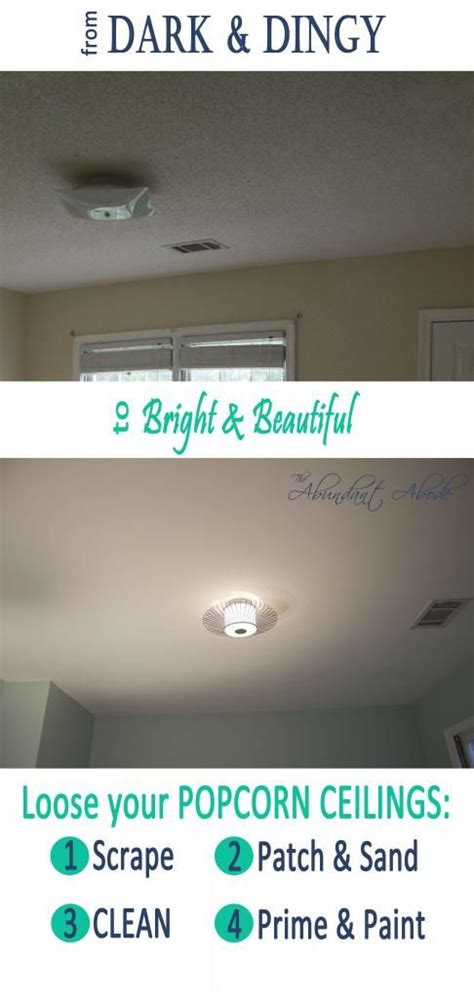 How To Redo Popcorn Ceilings by 1000 Ideas About Popcorn Ceiling On Remove