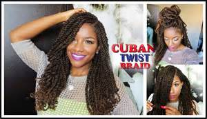 cuban hair twist tutorial styling w freetress equal cuban twist hair