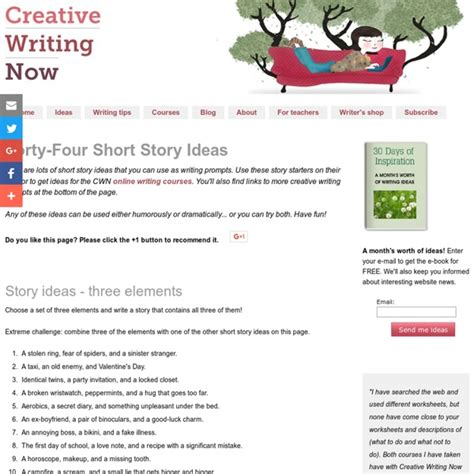 creative writing topics and short story ideas html autos short story ideas and creative writing prompts pearltrees