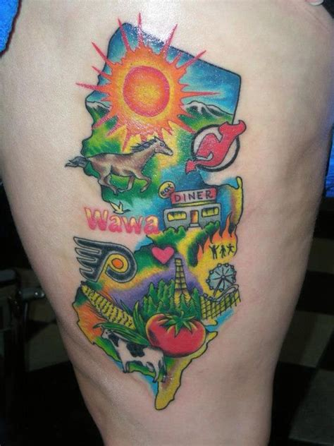 watercolor tattoo new jersey how great is this all things we about new jersey