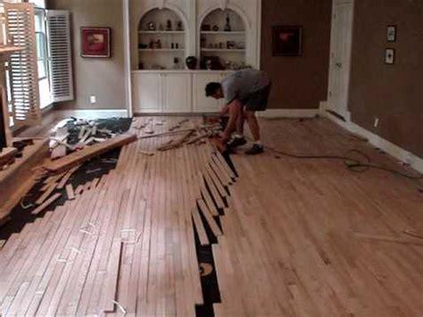 Racking Hardwood Floors by Hardwood Floor Installation