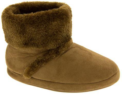 warm slipper boots warm soft faux fur comfy winter slipper boots