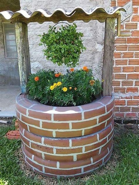 jardines de llantas pozo con llantas ideas creativas pinterest decoraci 243 n