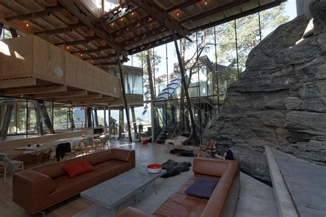 Livingroom Cafe summer house western norway jensen amp skodvin