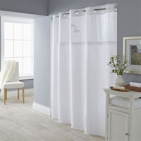 snap on shower curtain liners 1000 ideas about hookless shower curtain on pinterest
