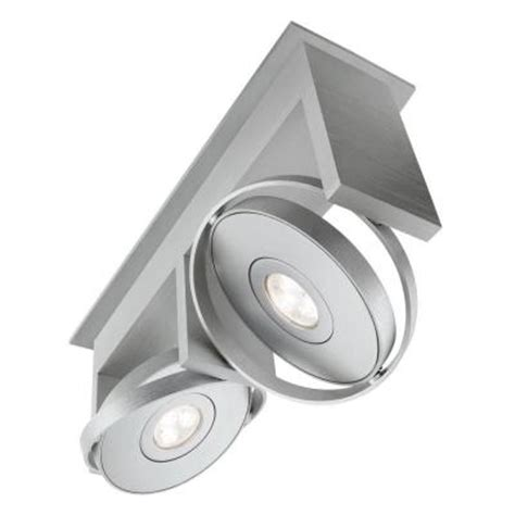 Philips Light Fixture Philips Orbit 2 Light Integrated Semi Flush Brushed Nickel Ceiling Led Track Lighting Fixture