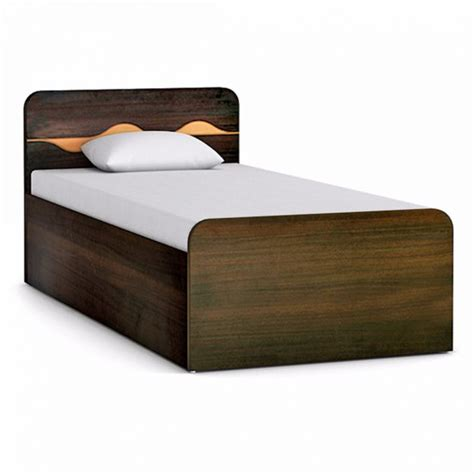 buy swirl single bed in engineered wood with box storage