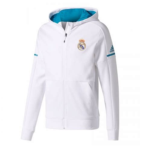 Parka Bola Real Madrid Army 2017 2018 real madrid adidas anthem jacket white for only 163 81 84 at merchandisingplaza uk
