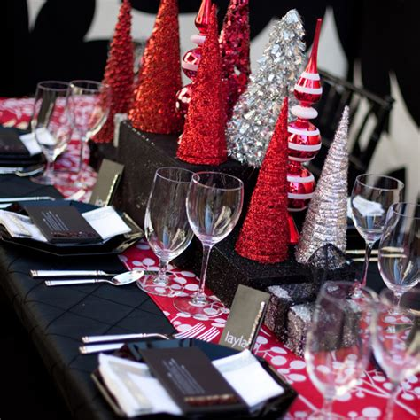 black and red christmas tablescapes fabulous sparkly modern tablescape b lovely events