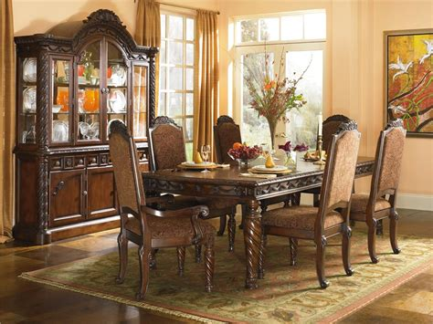 ashley dining room furniture set ashley millennium north shore dining room set d553