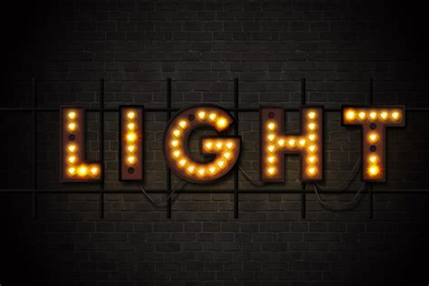 Marquee Lights And Showtime Sign Photoshop Actions By Marquee Lights