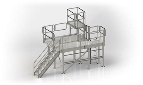 Stair Designs by Custom Platforms Fabricated From Stainless Steel