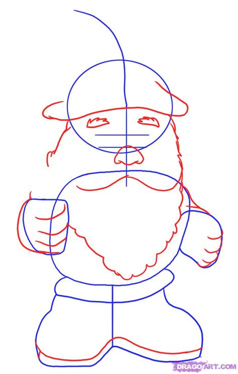 how draw a how to draw a gnome step by step stuff pop culture