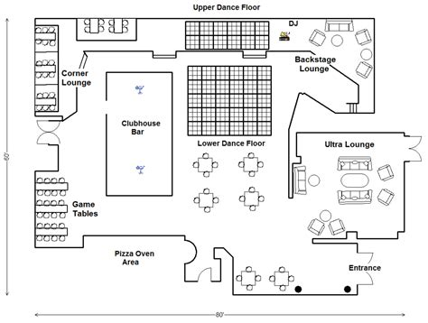 nightclub floor plans san mateo club venue the clubhouse bistro