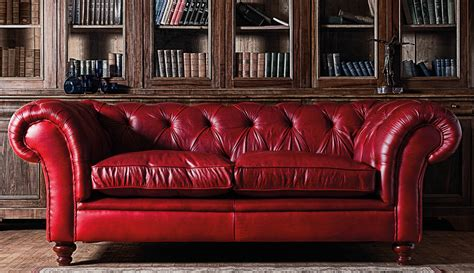red leather sofa sofas chesterfield club primer gentleman s gazette