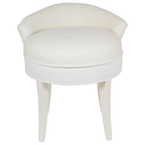 upholstered bench stool samuel marx upholstered vanity stool at 1stdibs
