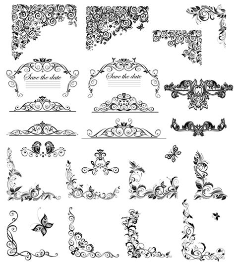 eps format borders floral ornaments border and corner vector vector floral