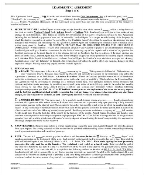 free lease agreement form lease agreement form template