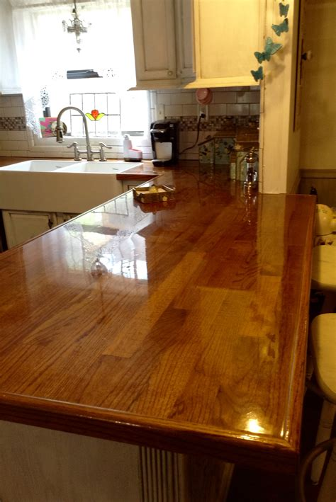 Wood Flooring For Countertops by Remodelaholic Diy Butcher Block Wood Countertop Reviews