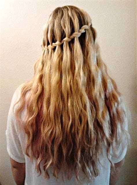 hairstyles braids waterfall pictures of stylish waterfall braid hairstyle