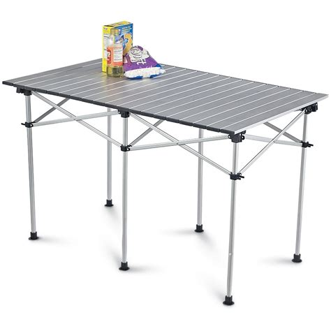 Roll Top Table by Guide Gear 174 Large Aluminum Roll Top Table 24472 Patio