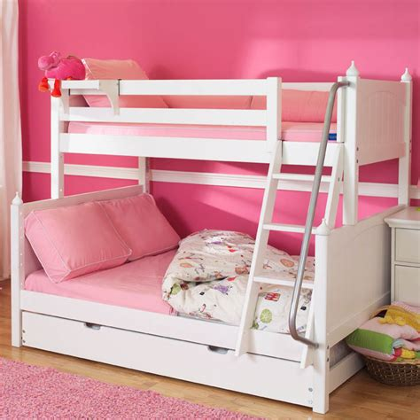white bunk beds twin over full white twin over full bunk beds by maxtrix kids 830