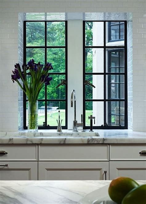 black framed windows house black frame windows kitchen pinterest