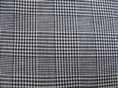 Upholstery Fabric Tartan Black And White Houndstooth Woven Plaid Fabric Plaid Remnant