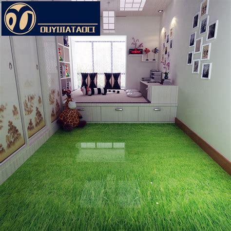 Green Wall Bedroom art floor green grass antique brick bedroom non slip floor