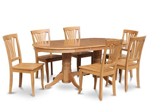 oak dining room table and 8 chairs chairs sets image