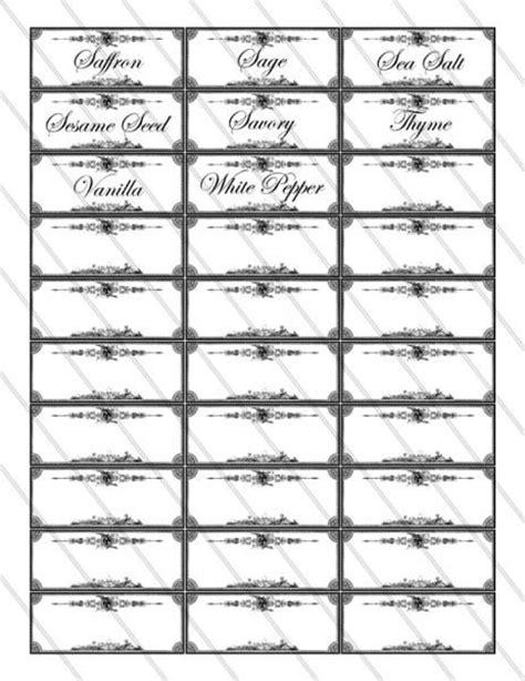 printable jar labels spice labels printable images digital collage sheet 079