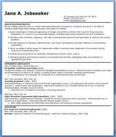 chemical engineer resume sle resume downloads