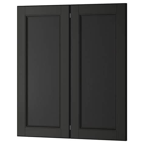 Black Kitchen Base Cabinets by Laxarby 2 P Door Corner Base Cabinet Set Black Brown