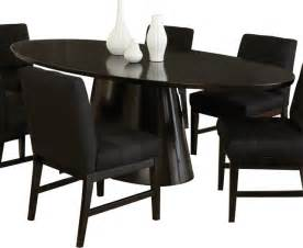 Oval Pedestal Dining Table Black Steve Silver Maurice Pedestal Oval Dining Table In Sleek