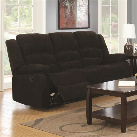 brown fabric reclining sectional coaster 601461 brown fabric reclining sofa a sofa