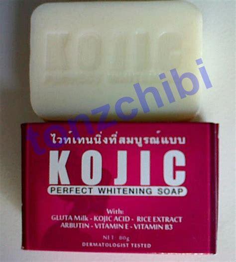 kojic soap memutihkan wajah  menghilangkan bekas