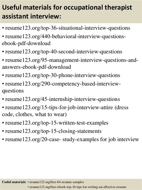 Job Objectives Sample For Resume by Top 8 Occupational Therapist Assistant Resume Samples